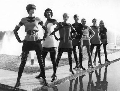 Pierre Cardin two-tone jersey dresses